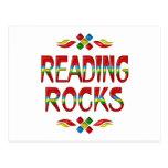 Rocas de la lectura tarjetas postales