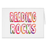 Rocas de la lectura tarjeton