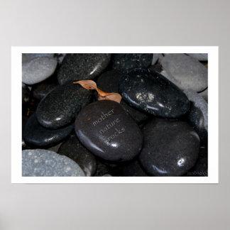 rocas de la madre naturaleza póster