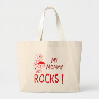 ¡Rocas de la mamá! (rojo) Bolsas De Mano