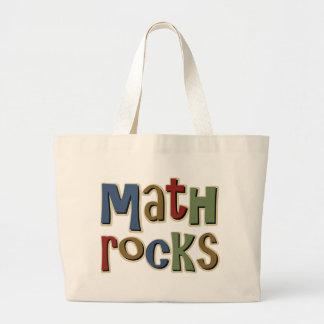 Rocas de la matemáticas bolsas de mano