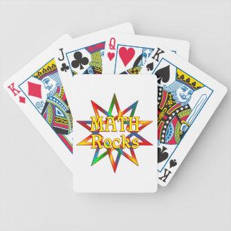 Rocas de la matemáticas cartas de juego