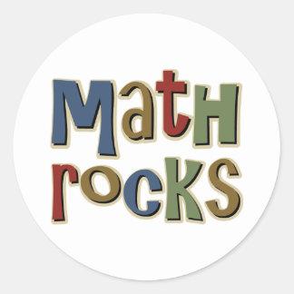 Rocas de la matemáticas pegatina redonda