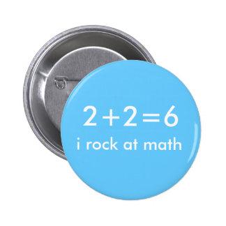 Rocas de la matemáticas pin redondo de 2 pulgadas