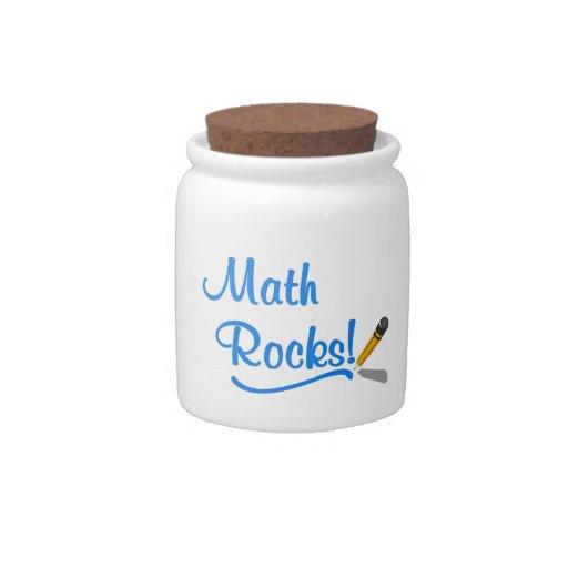 Rocas de la matemáticas platos para caramelos
