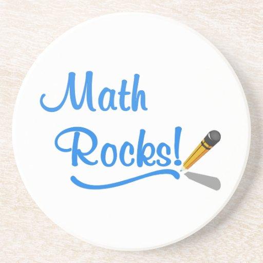 Rocas de la matemáticas posavasos para bebidas
