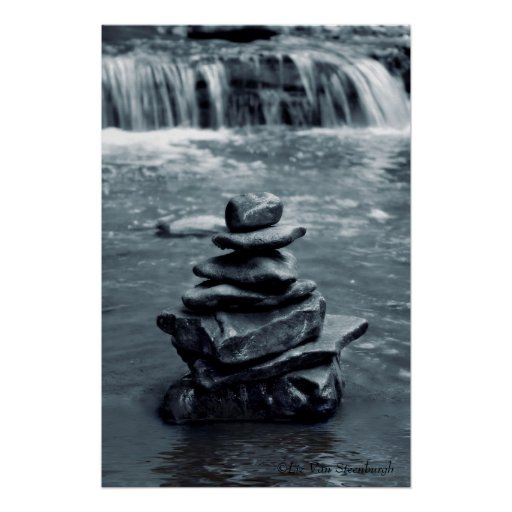 Rocas de la meditación posters