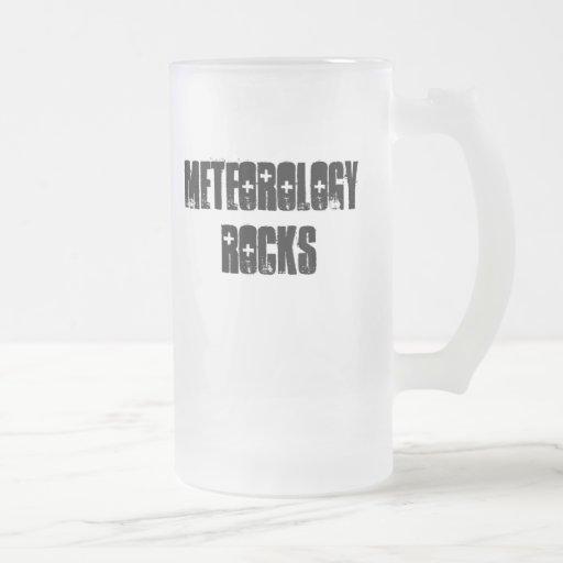 Rocas de la meteorología taza cristal mate