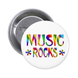 Rocas de la música pin redondo 5 cm