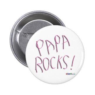 ¡Rocas de la papá! Botón Pin
