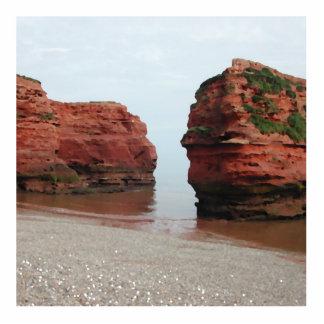 Rocas de la pila del mar Bahía de Ladram Devon Esculturas Fotograficas