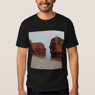 Rocas de la pila del mar. Bahía de Ladram. Devon. Playera