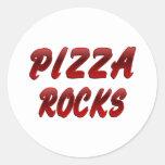 ROCAS DE LA PIZZA ETIQUETA REDONDA