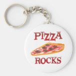 Rocas de la pizza llavero
