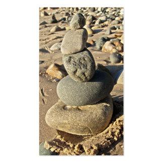 Rocas de la playa del lago Michigan apiladas Plantilla De Tarjeta De Negocio