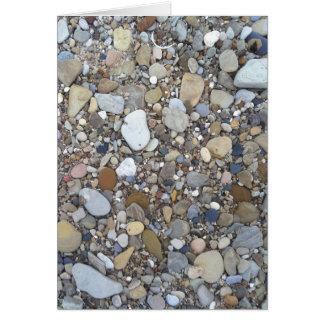Rocas de la playa tarjeta pequeña