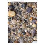 rocas de la playa tarjetón