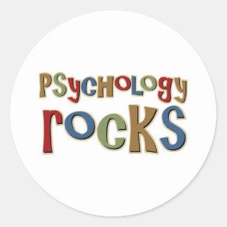 Rocas de la psicología etiquetas redondas
