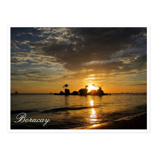 rocas de la puesta del sol de Boracay Postales