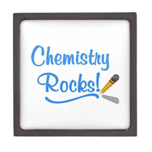 Rocas de la química caja de recuerdo de calidad