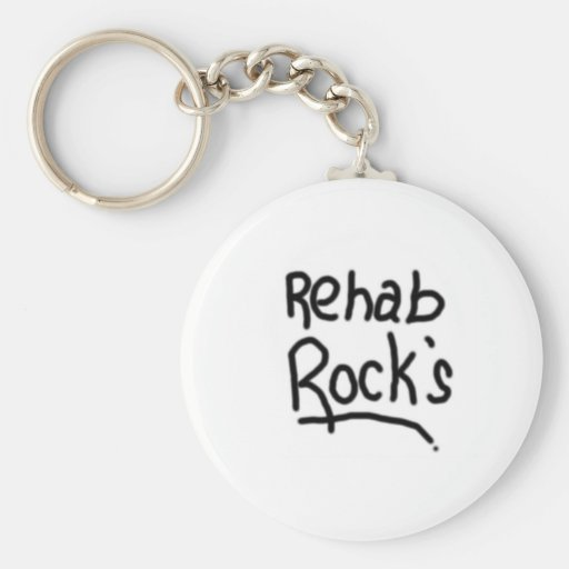 rocas de la rehabilitación llavero