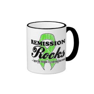 Rocas de la remisión - conciencia del linfoma de N Taza De Café