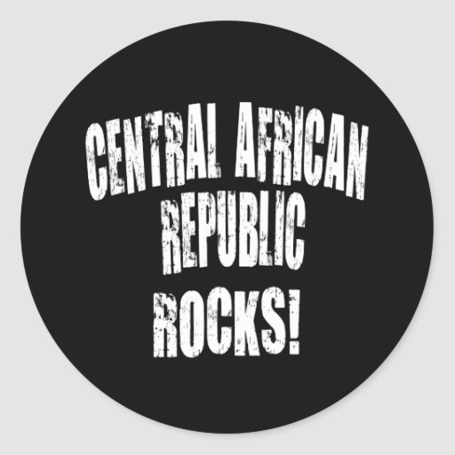 ¡Rocas de la República Centroafricana! Pegatina Redonda