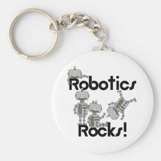 Rocas de la robótica llavero redondo tipo pin