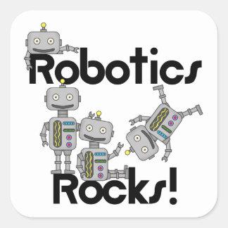 Rocas de la robótica pegatina cuadrada