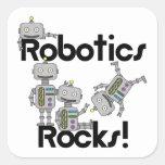 Rocas de la robótica pegatinas cuadradas