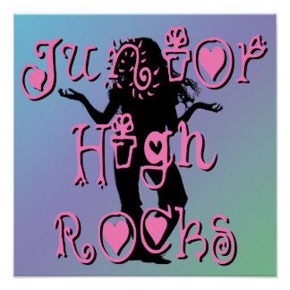 Rocas de la secundaria - poster de las flores de