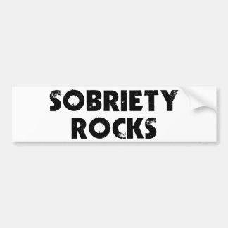 Rocas de la sobriedad etiqueta de parachoque