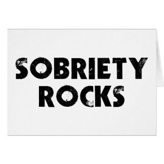 Rocas de la sobriedad tarjeta de felicitación
