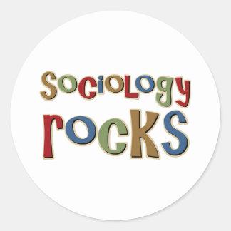 Rocas de la sociología pegatina redonda