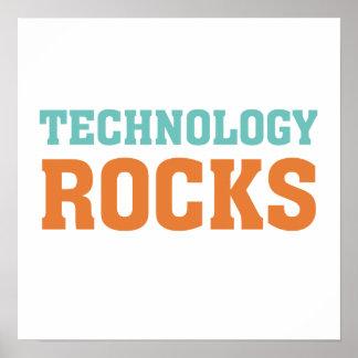 Rocas de la tecnología póster