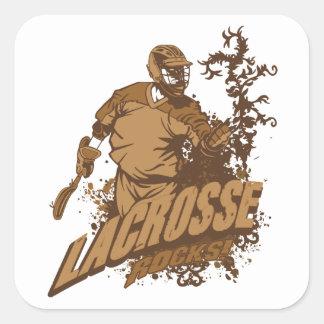 ¡Rocas de LaCrosse! Pegatina Cuadradas