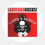 ¡Rocas de Las Vegas! Etiqueta Redonda