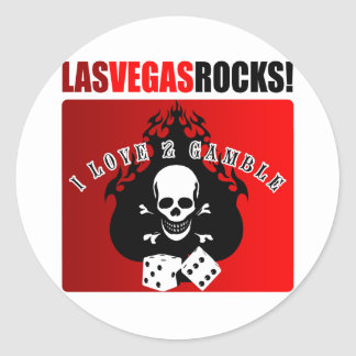 ¡Rocas de Las Vegas! Pegatina Redonda
