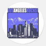 ¡Rocas de Los Ángeles! Etiquetas Redondas