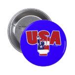 ¡Rocas de los E.E.U.U.! Cuarto de julio Pins