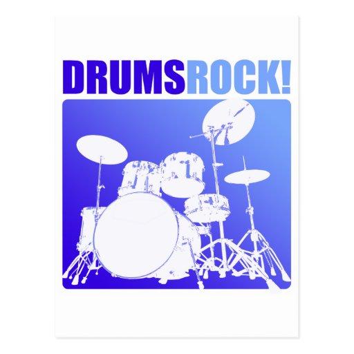 ¡Rocas de los tambores! Tarjeta Postal
