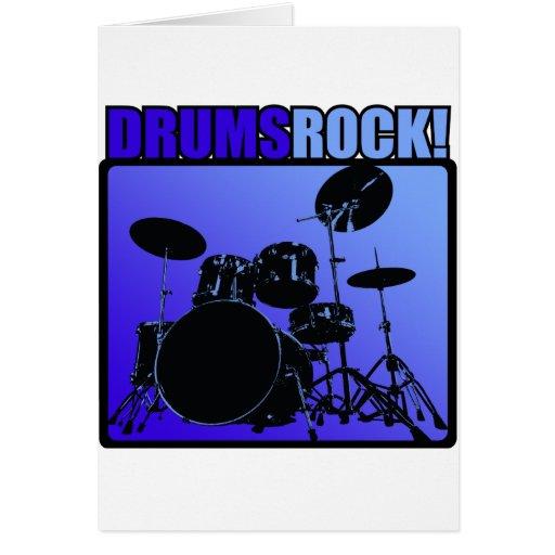 ¡Rocas de los tambores! Tarjeton