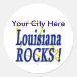 ¡Rocas de Luisiana! Pegatina Redonda