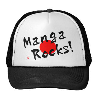 ¡Rocas de Manga! Gorro De Camionero