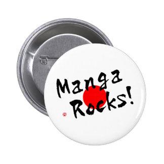 ¡Rocas de Manga! Pin Redondo De 2 Pulgadas