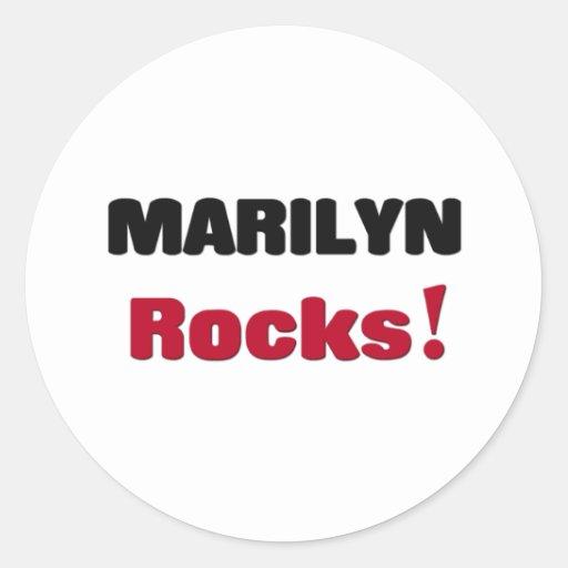 Rocas de Marilyn Pegatina Redonda