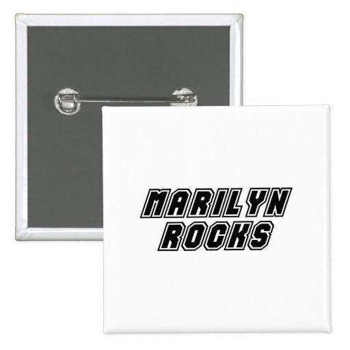 Rocas de Marilyn Pin Cuadrada 5 Cm