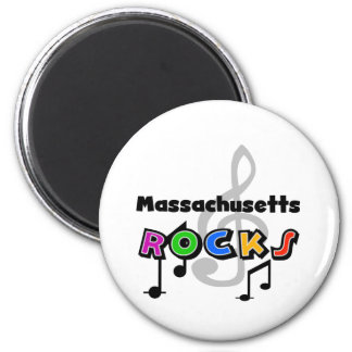 Rocas de Massachusetts Imán Redondo 5 Cm