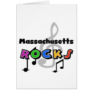 Rocas de Massachusetts Tarjeta De Felicitación