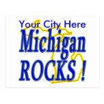 ¡Rocas de Michigan! Postal